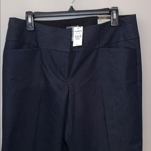 Express Editor Flare Navy Trouser